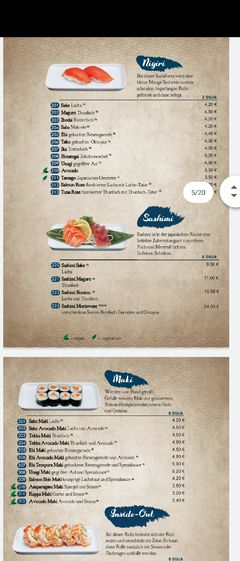 A menu of noosou, Bremen
