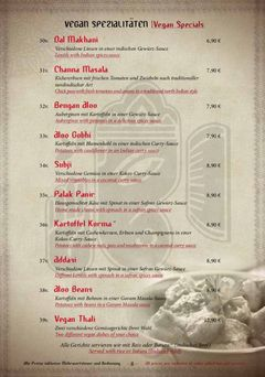 A menu of Vayra