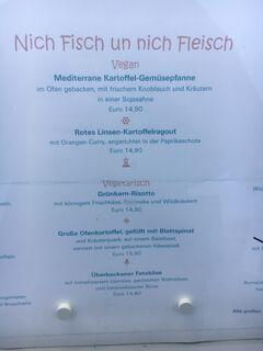 A menu of Klabautermann