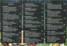 A menu of Tiger Club
