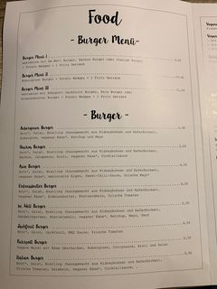 A menu of be.Well