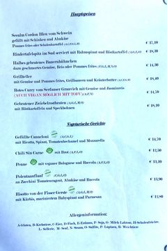 A menu of Seealm Hög