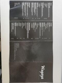 A menu of Wagaya, Hof