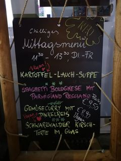 A menu of Chillig