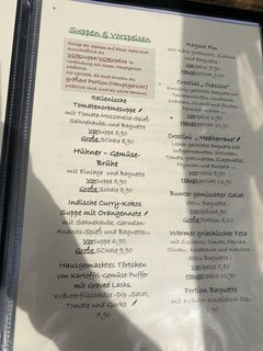 A menu of Marktblick