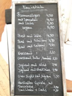A menu of Zuckerbäckerei