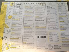 A menu of Lexi's, Rosebank