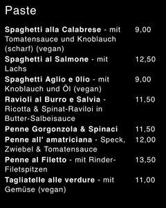 A menu of Rusticone